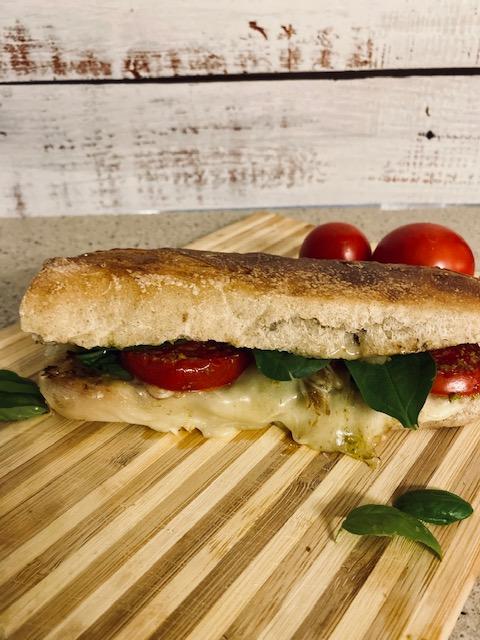 Caprese panini with pesto sandwich recipe